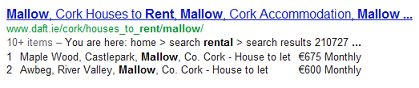 Rental Property search for Mallow, Co. Cork